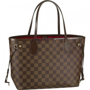 Louis-Vuitton-Damier-Ebene-Canvas-Neverfull-PM-Brown-Women-Shoulder-Bags-And-Totes-N51109-0