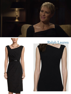 Claire Underwood-Black dress