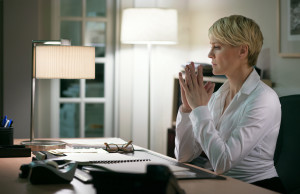 Claire Underwood WhiteButtondown