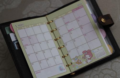 Planner Calendar Refills : Beauty on louis vuitton agenda refills pm size