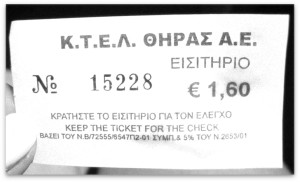 Santorini Bus ticket
