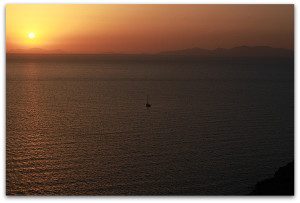 Sunset in Oia, May 2014